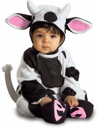 Child's Infant Baby Farm Animal Cow Costume, 6-12 Months