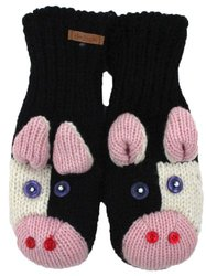 DeLux Cow Wool Animal Mittens