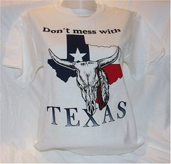 Don't Mess With Texas Cow Skull T-Shirt