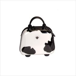 International Traveller Moo Shiny Cow Print Polycarbonate Vanity