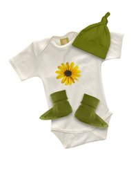 Positively Organic - B-baby Cotton Long Sleeve Onesie with Print