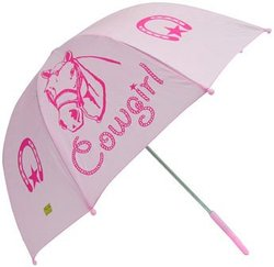 Western Chief Kids Pink Cow Girl Umbrella
