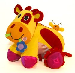 Giggle Toys Patches The Huggable Cow, Yellow