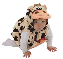 Mullins Square Cow Baby Costume, 6-18 Months