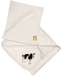 Utlra-Soft Baby Blanket and Pouch, Cow