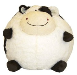 American Mills 15-Inch Round Plush Moo Cow Pillow
