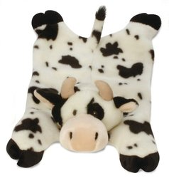 Barnyard Buddies Cow Mama Dog Toy, 24' White
