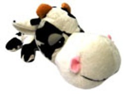 Boss Pet FatHedz Cow Dog Toy