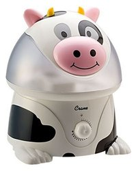 Crane Adorable 1 Gallon Cool Mist Humidifier, Cow Shape