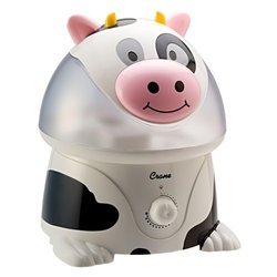 Crane Cow-Figure Ultrasonic Humidifier - Black/ White