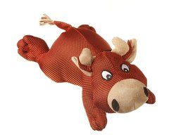Multipet Dazzler Cow Durable Plush Dog Toy