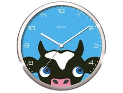 Present Time Peekaboo Cow Wall Clock