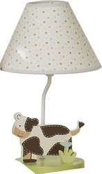 Sumersault Moo Cow Lamp with Shade
