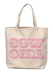 'Cow Girl' Canvas Tote Bag