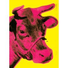 Andy Warhol- Cow Wallpaper (Pink n Yellow) Magnet