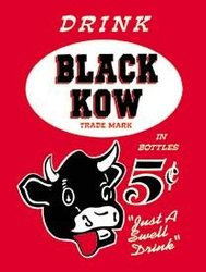 Black Kow Cow Drink tin sign #892