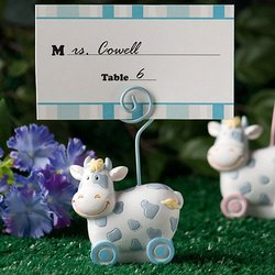 Blue Toy Cow Design Place Card Holders 'Qty. 40'