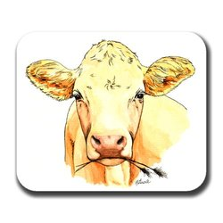 Cow Art Mouse Pad