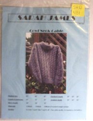 Cow Neck Cable Sweater Craft Pattern