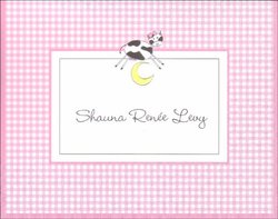 Cow Over the Moon Girl Note Cards