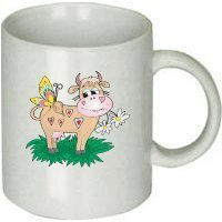 Cow with Butterfly Hearts Mug