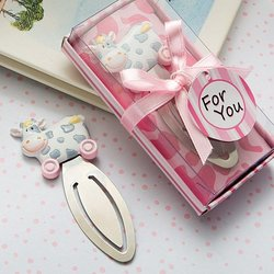 Pink Toy Cow Bookmark Favors 'Qty. 30'