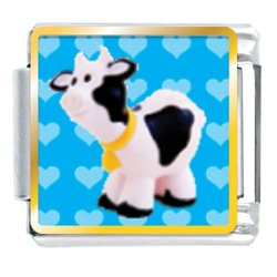 Animal Photo Toy Cow Italian Charms Bracelet Link