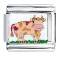 Colorful Cow Spring Fashion Jewelry Italian Charm