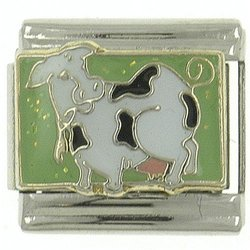 Cow In The Pasture Animal Italian Charms Bracelet Link