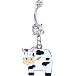 Moo Moo Cow Belly Ring