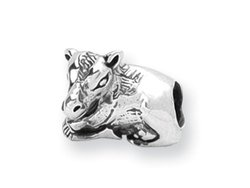 Reflections(tm) Sterling Silver Cow Bead / Charm