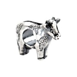Sterling Silver Cow Charm with 20 inch Sterling Silver Chain