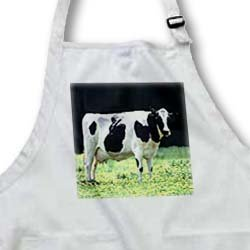Holstein Cow - Medium Length Apron With Pouch Pockets 22w X 24l