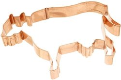Old River Road Cow Shape Cookie Cutter, Copper
