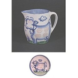 Pitcher 1 Qt., Country Cow Pattern