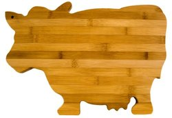 Totally Bamboo 14-Inch by 10-Inch Cow Cutting Board