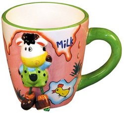 ZooBuds Dancing Feet 8 Ounce Cup with Hand Painted Cow Design