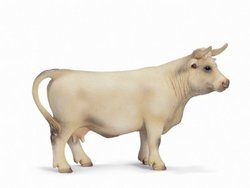 Charolais Cow Toy, 5.51'