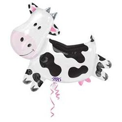 Cow Metallic Balloon - 30 in.