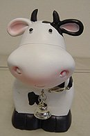 Cow Piggy Bank - Funny