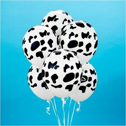 Cow Print Balloons (6) Party Supplies