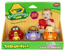 Crayola 3ct. TaDoodles Washable Easy Stampers (Cow, Parrot, Donkey)