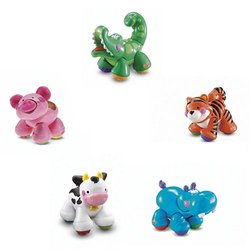 Fisher Price Amazing Animals Crocodile Tiger Pig Cow Hippo Set of 5