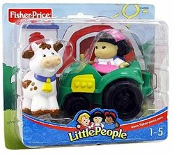 Little People Tractor with a girl and a cow C4309 (2003)