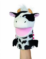 Manhattan Toy Country Critters Clover Cow Hand Puppet