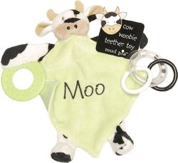 Mud Pie Baby EiEiO Teether Blankie, Cow