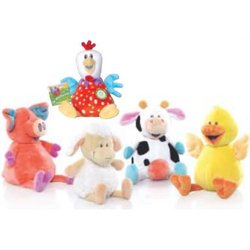 Ol' MacDonald Singing Farm Animals Plush Toy, Cow