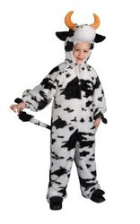 Plush Cow Child Halloween Costume Size 4-6 Small (DU15)