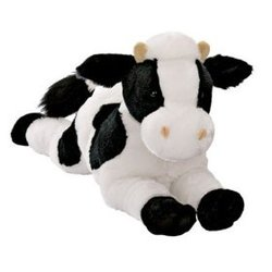 Plush Mooly Black and White Cow 14'