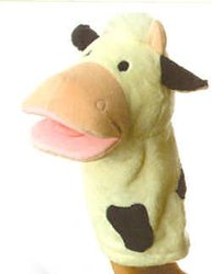 Plush Mooty Cow Hand Puppet 12'